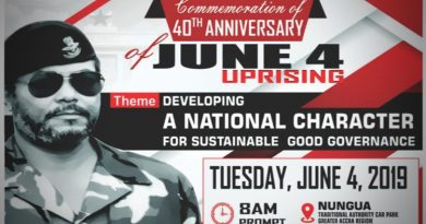 Rawlings to address June 4 durbar at Nungua