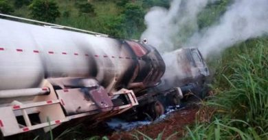 Tanker Driver And His Mate In Trouble After Emptying Tanker And Burning It