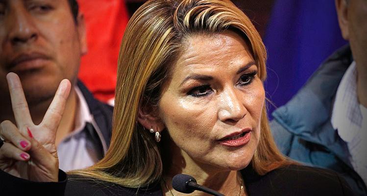 Bolivian senator declares herself president